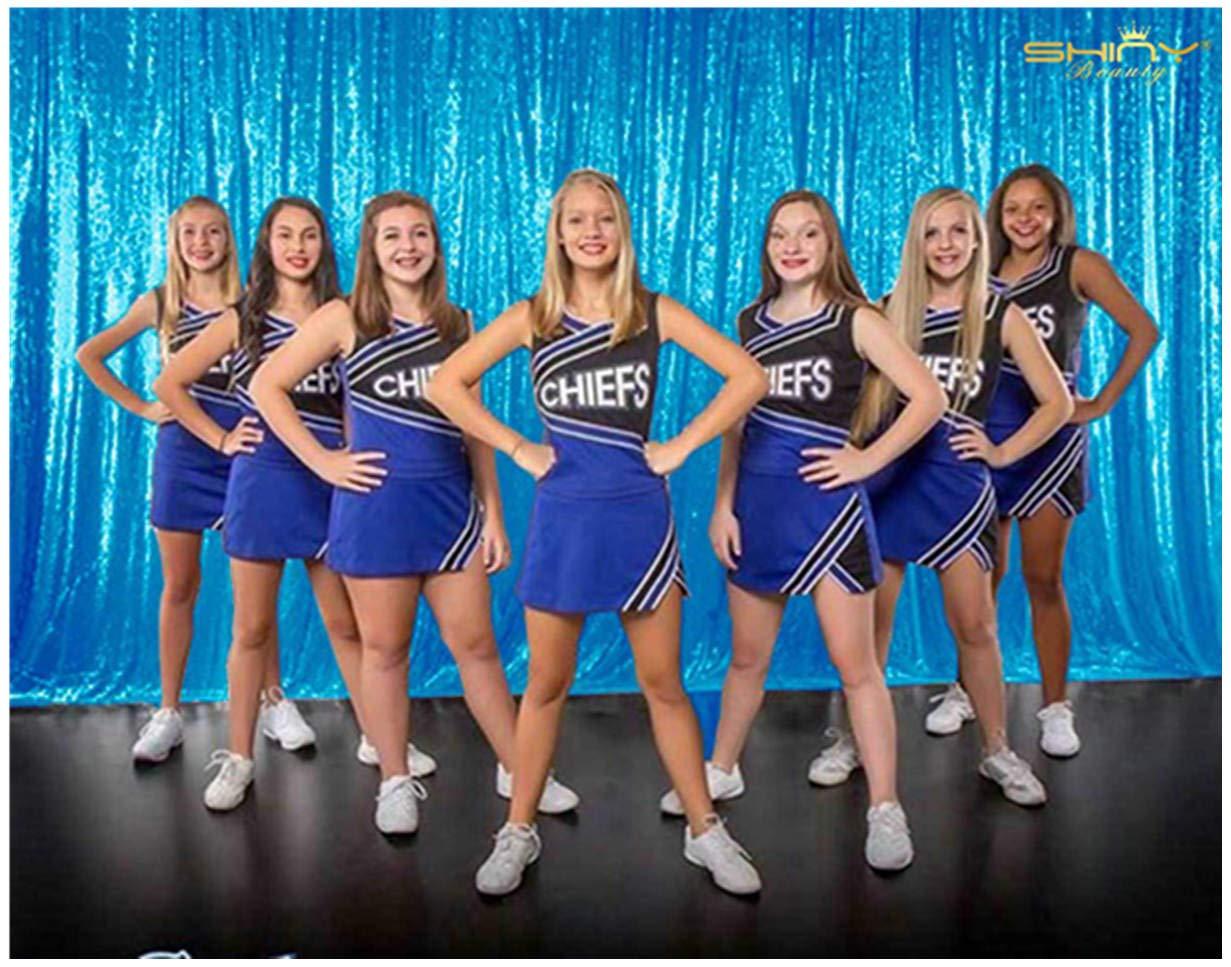 ShinyBeauty Sequin Backdrop-Aqua Blue 10FTx20FT Sequin Photo Backdrop,Photo Booth Background,Sequence Christmas Backdrop Curtain (10FTx20FT, Aqua Blue)