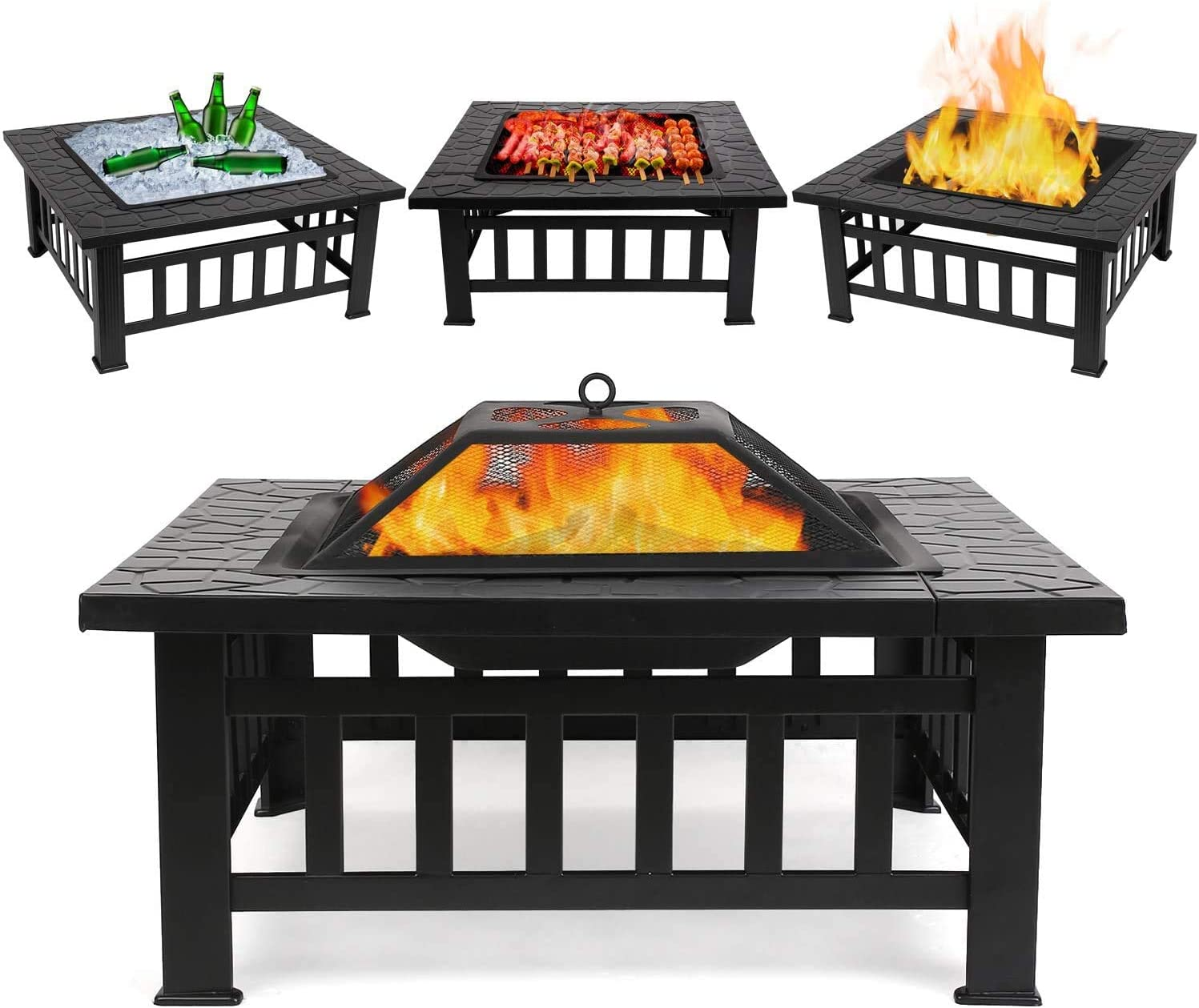 FIXKIT Outdoor Fire Pit Table