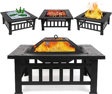 BRAND NEW WildFire Collapsible Steel Garden Fire Pit Box BBQ Scottish Design