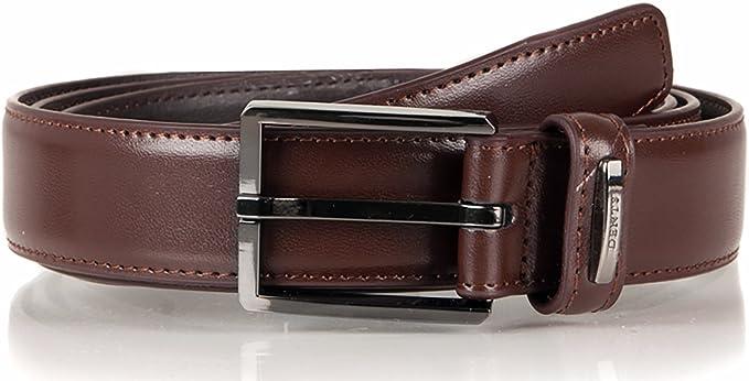 Black Dents Mens Grained Leather Belt