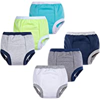 BIG ELEPHANT Baby Boys' 6 Pack Toddler Potty Training Pants 100% Cotton Waterproof Underpants