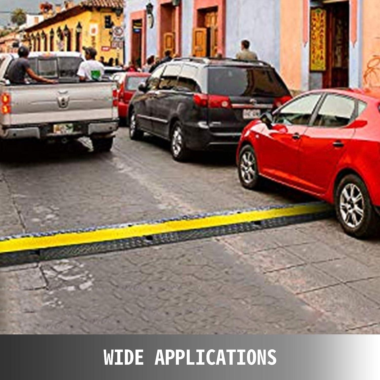 Passage de C/âble 3pcs 2 Canaux en PVC et Caoutchouc Thermoplastique Rampe de Protection de C/âbles 11,000 lbs//axle Pont Protection Rampe Parking Entrep/ôt R/ésistante /à l?abrasion