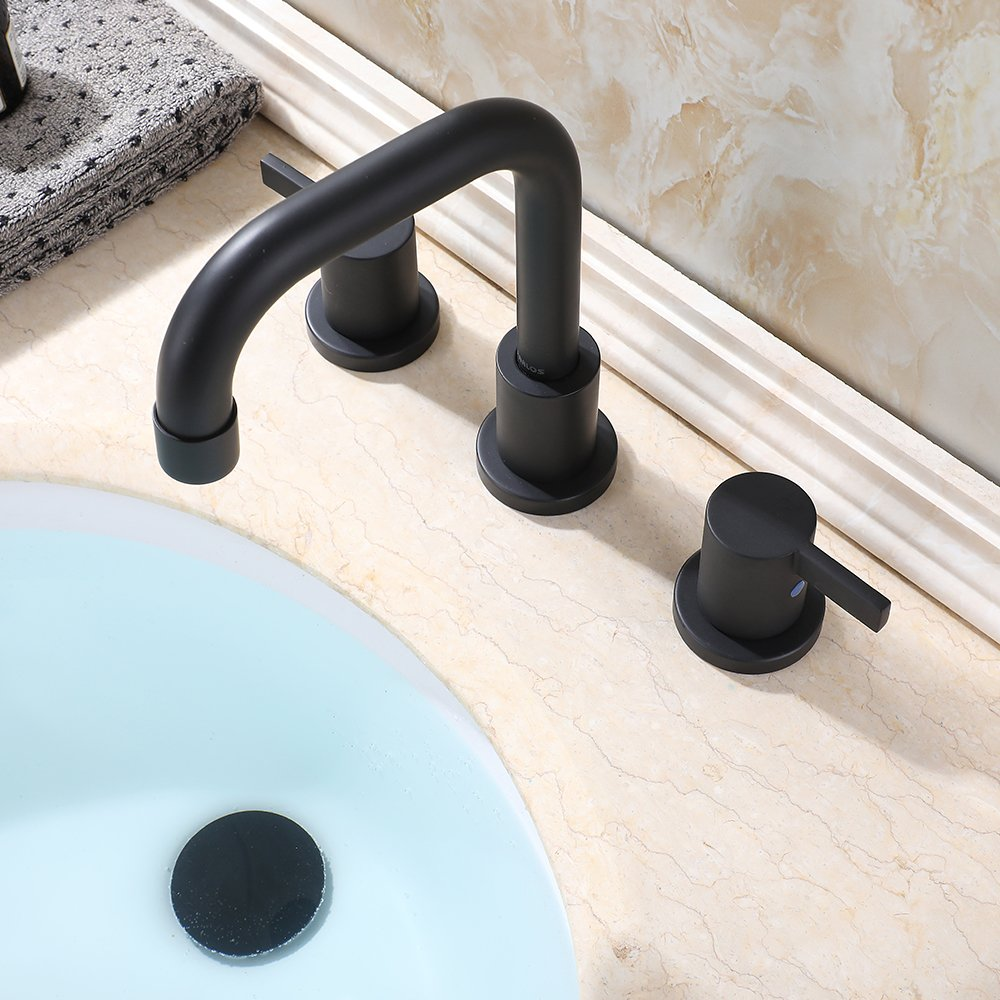 Amazon.com: PARLOS - Grifo de baño con 2 asas, con desagüe ...