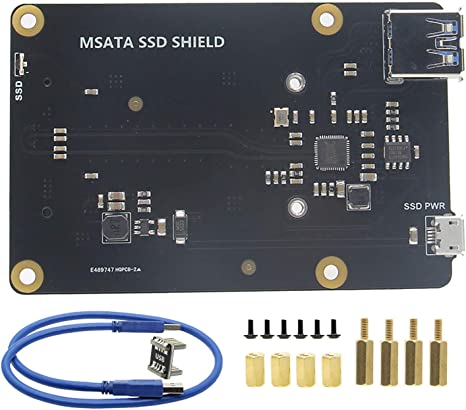 Upgraded Version V3.0 X850 MSATA SSD Storage Expansion Board For Raspberry Pi 3