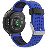 Garmin Forerunner 235 Watch Band, MoKo Soft Silicone Replacement Watch Band with Tools ONLY for Garmin Forerunner 235 Smart Watch - ROYAL BLUE & BLACK