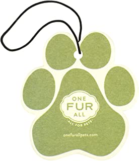 product image for One Fur All Pet House Car Air Freshener, Pack of 4 – Fresh Citrus - Non-Toxic Auto Air Freshener, Pet Odor Eliminating Air Freshener for Car, Ideal for Small Spaces, Dye Free Dog Car Air Freshener