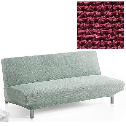 Jarrous Funda de Sofá Clic-Clac Modelo Lombardy, Color Rojo-5, Medida 3 Plazas – 180-230cm