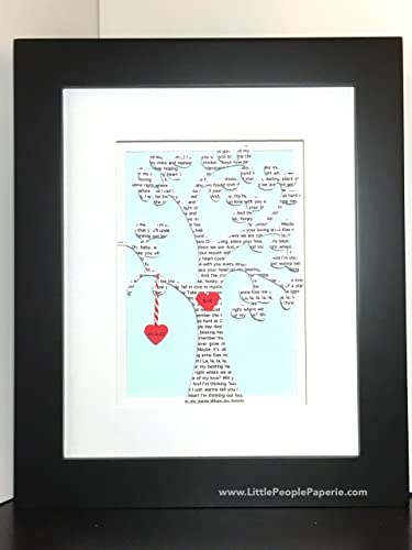 Amazoncom Unique Wedding Gift Wedding Song Lyrics Art Custom