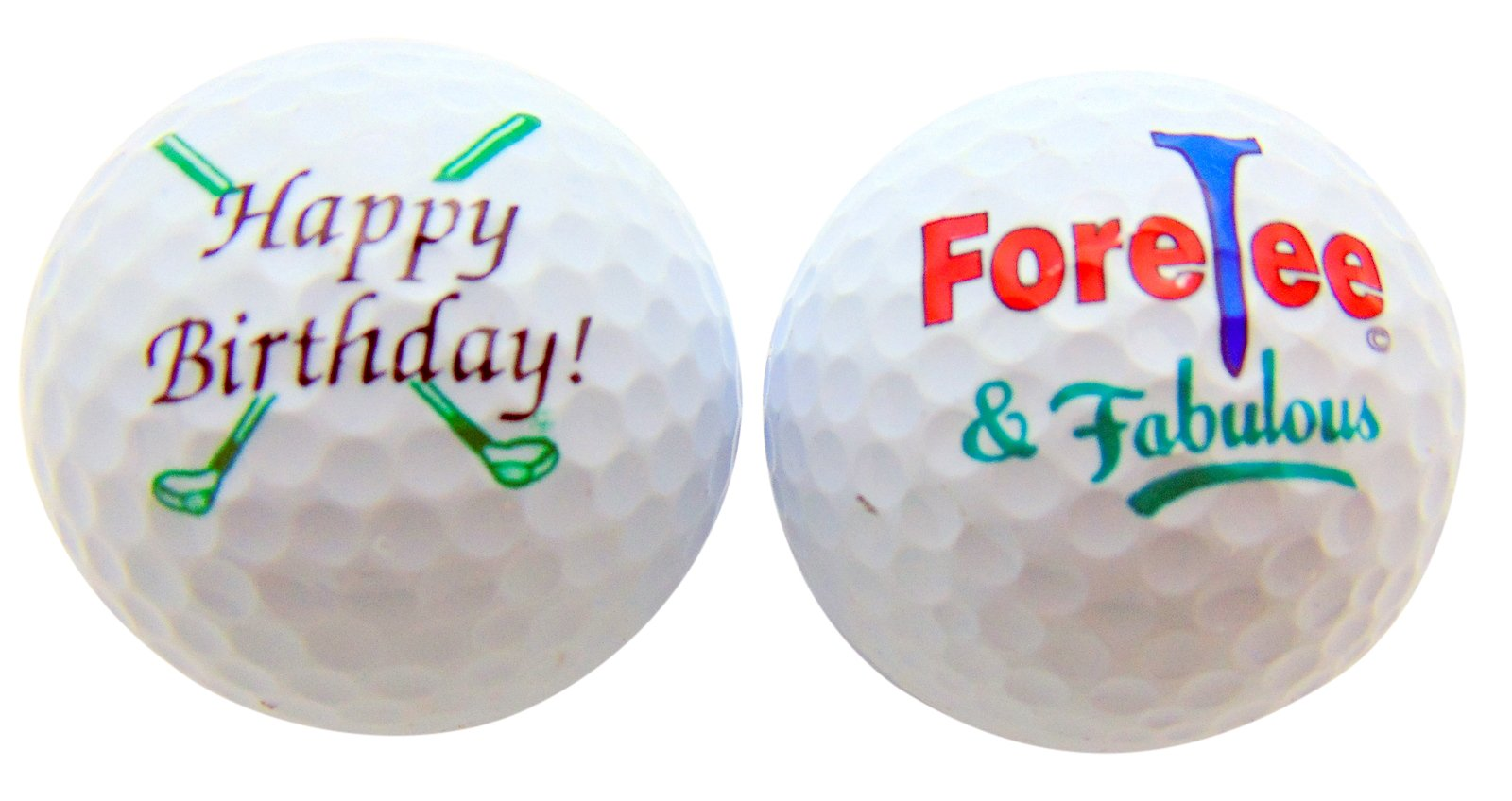 Happy 40th Birthday ForeTee & Fabulous Set of 2 Golf Ball Golfer Gift Pack