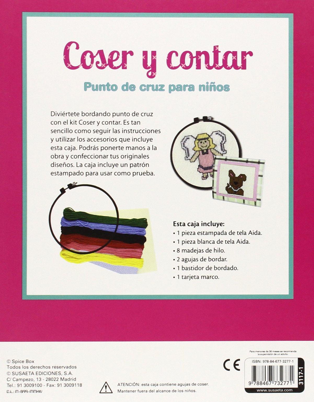 Coser y contar. Punto de cruz para niños Pequeños artistas: Amazon ...