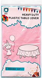 D&Z 12 Pack Round Plastic Tablecloth Disposable 84