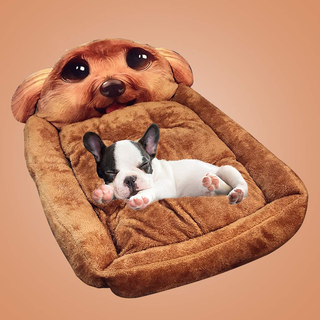 Light Coffee 3535228cmPet nest, closed detachable cat mattress, onepiece dualuse comfortable nondeformable 3D dog bed, 6 styles