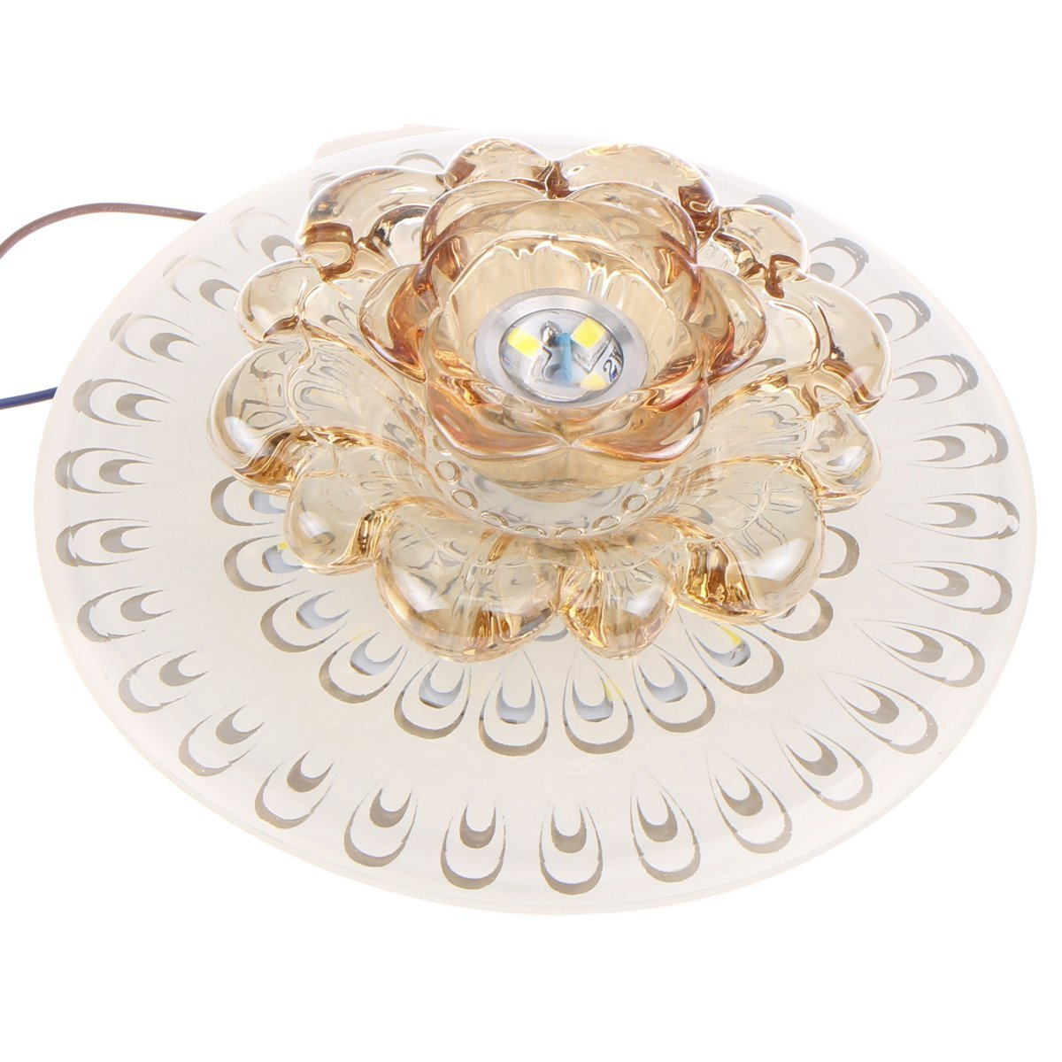 Modern 18cm 9w LED Crystal Ceiling Light Aisle Corridor Light (White)