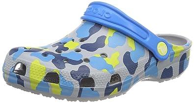 8f65f4c179da5 Crocs Unisex Kids' Classic Seasonal Graphic Clog Kids Clogs , Grey (Light  Grey)