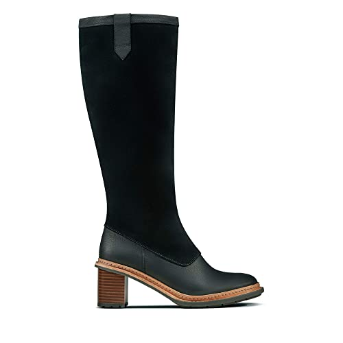 be0555f672b4 Clarks Trace Mist Leather Boots in Black  Amazon.co.uk  Shoes   Bags