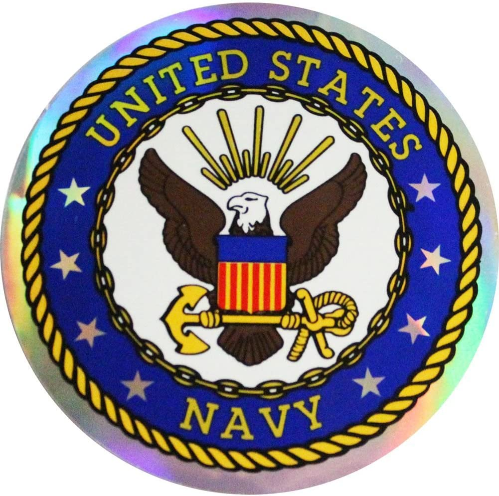 U.S Navy 3 Inch Prism Decal