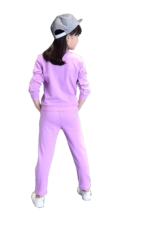 Child girls Spring Sports Sweater shirt Blouse pants 2sets