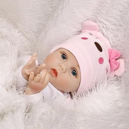Amazon.com: Baby Handmade Lifelike Newborn Babies Girls Soft Vinyl ...