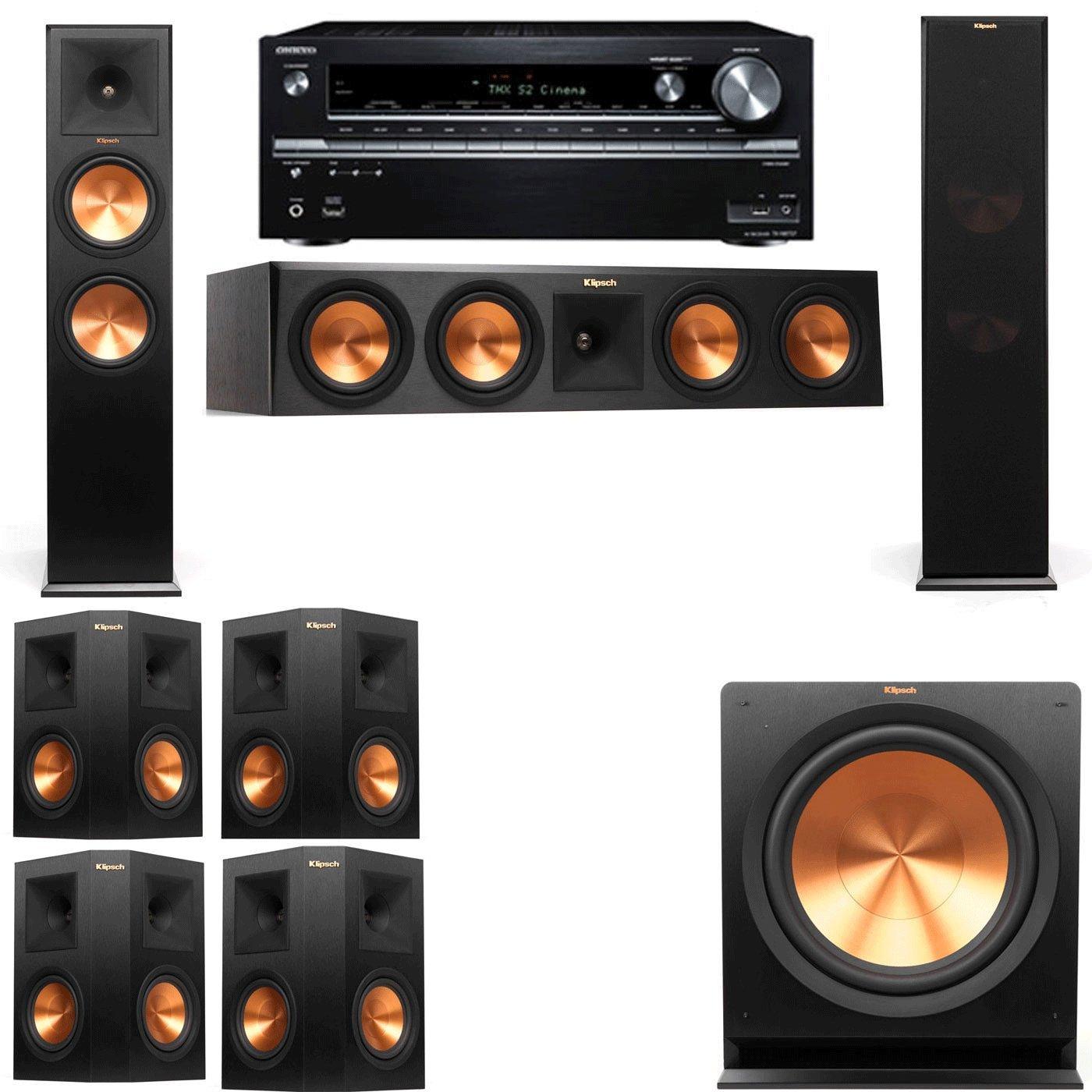 Klipsch RP-280F Tower Speakers-7.1-Onkyo TX-NR838