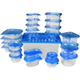 Food Storage Container (set of 54 pcs) - Blue - BPA Free - Reusable - Environment Friendly - Multipurpose Use for Home Kitchen or Restaurant - by Utopia Kitchen