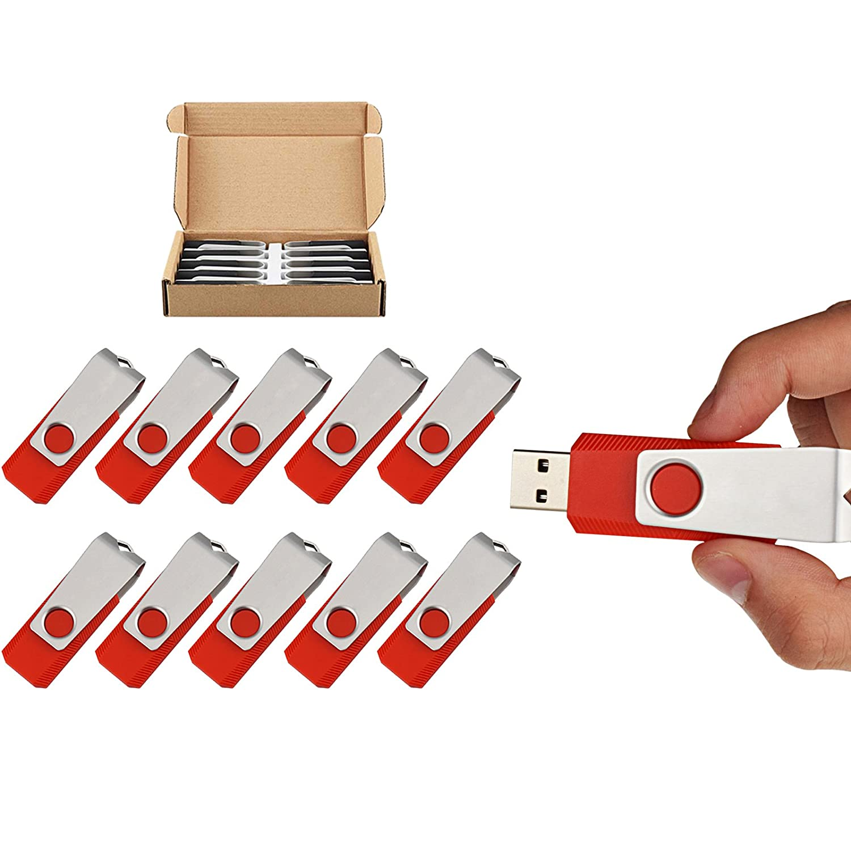 TOPSELL 5 Pack 32GB USB Flash Drives Flash Drive Flash Memory Stick Swivel USB 2.0 32G, 5PCS, Black