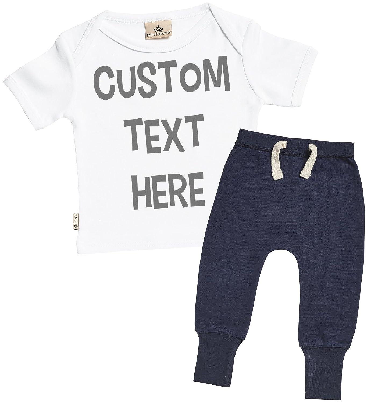 Amazon Sr Personalised Custom Text Design Baby T Shirt Navy