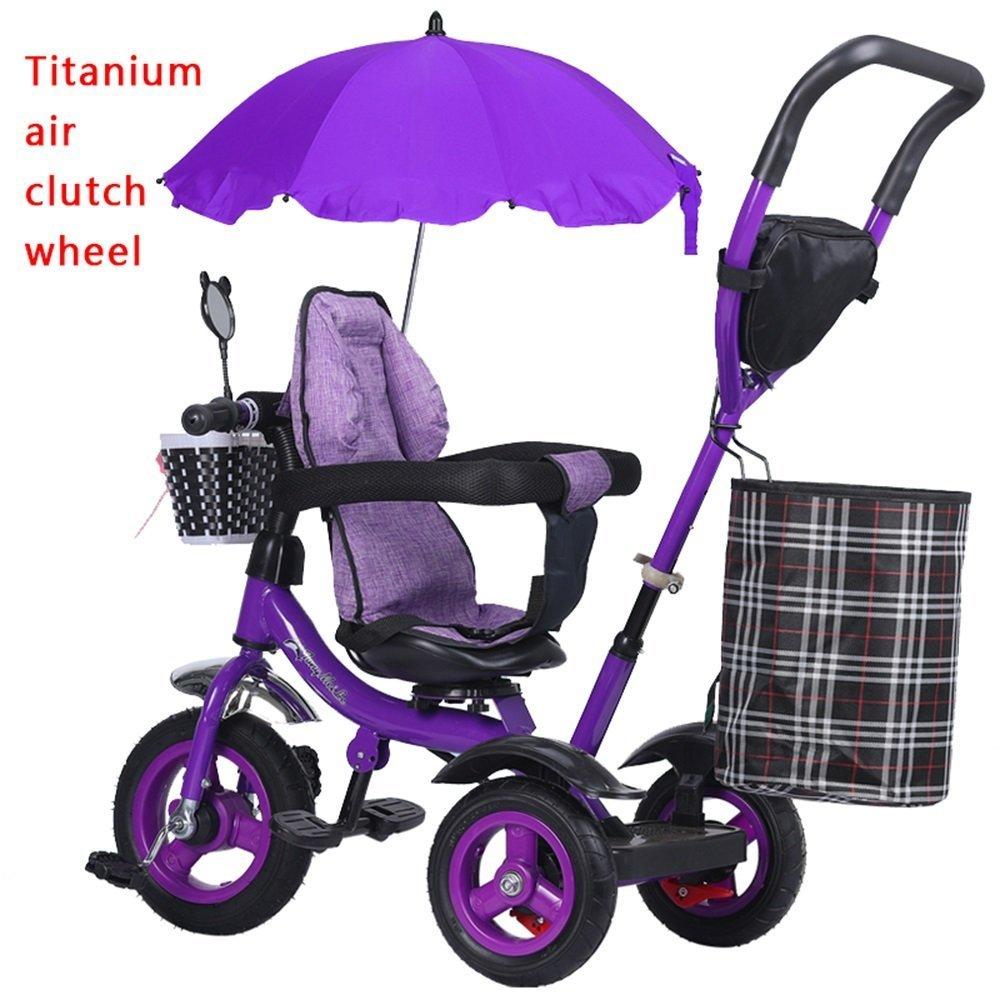 DACHUI niños la bicicleta de ruedas de titanio baby girl baby carriage, bicicleta, niños triciclo, luz trolley, (Color :  4)