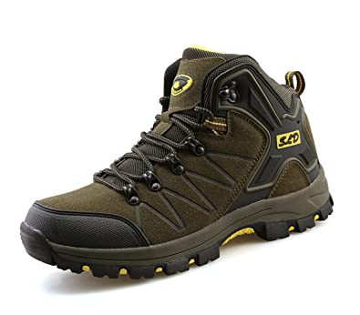 TQGOLD Men s Women s Hiking Shoes Outdoor Waterproof Mid Hiking Boots (Size  5 ... 19630c6f1b