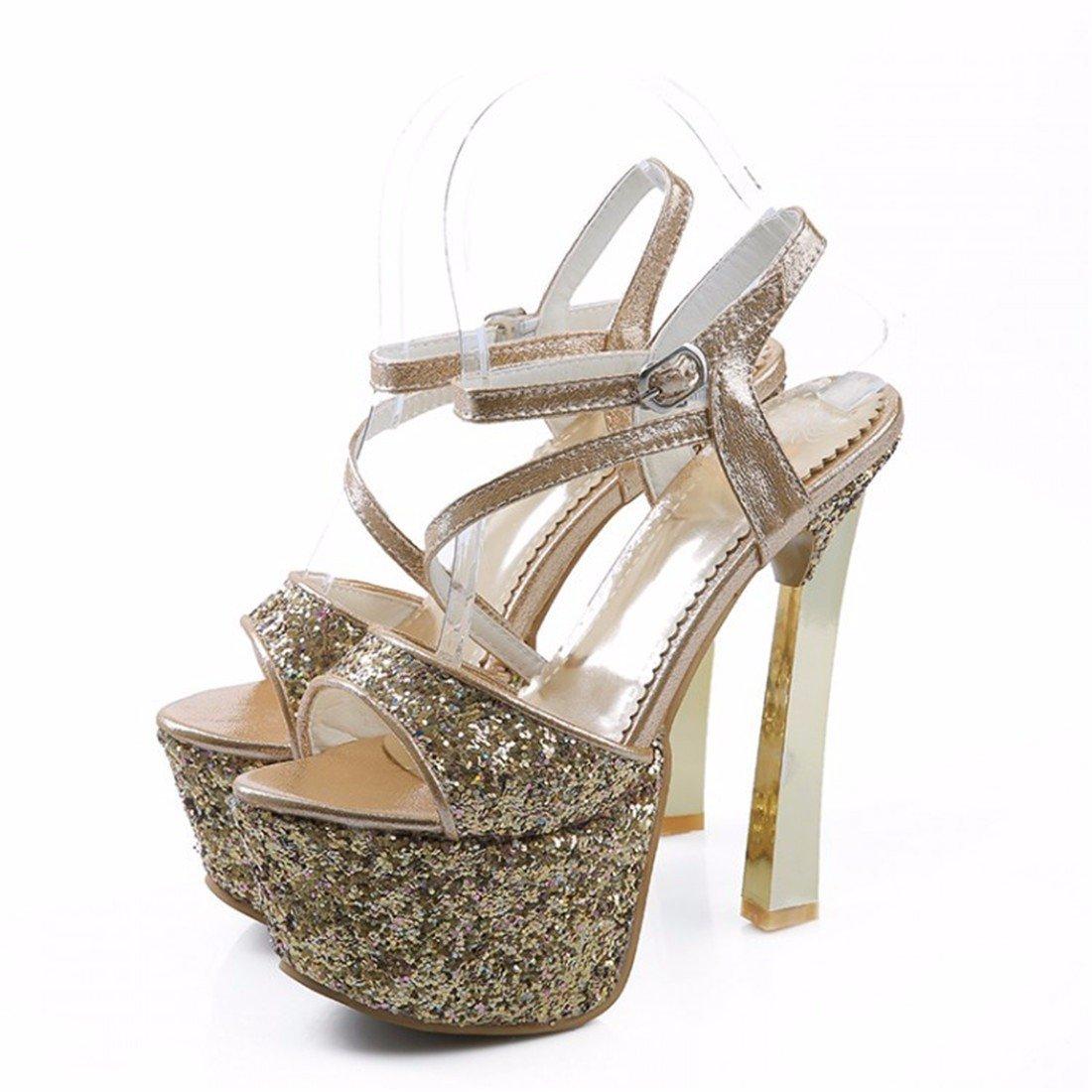 Damen Sandalen Ultra-High mit Sandalen Wasserdicht Plateau Sandalen Sandalen 亮 Modell