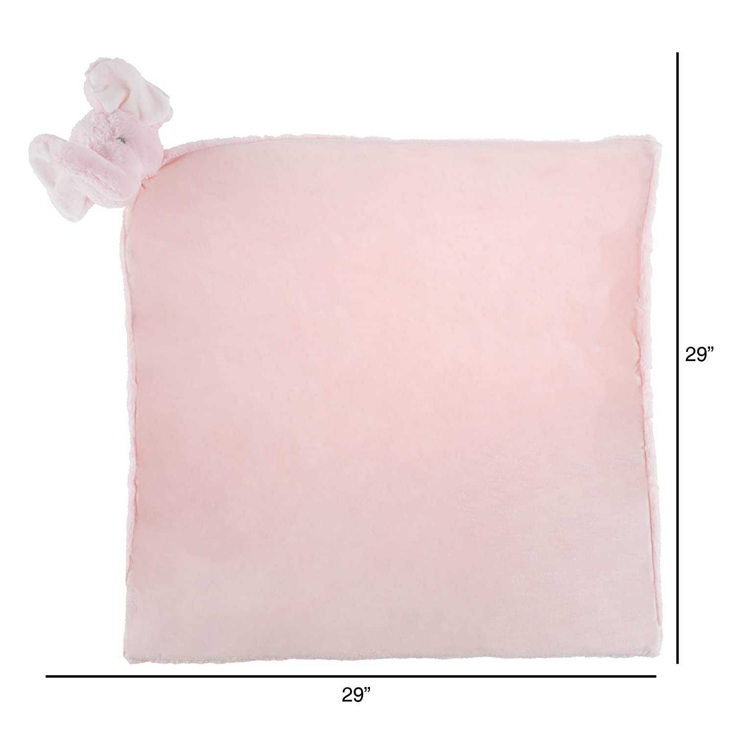Trademark Global 80-SUM-170333 Lamb-Ivory Sleep and Travel-Snuggly Furry Blankey for Boys and Girls Happy Trails Baby Security Blanket Stuffed Animal-Soft and Cuddly for Play