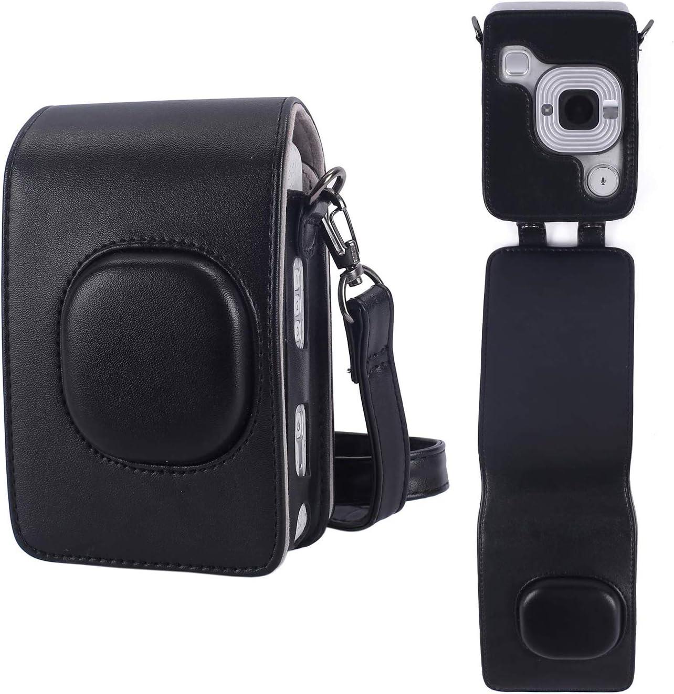 Negro iPobie Funda para c/ámara Fujifilm Instax Mini LiPlay Funda de Transporte Compatible con Instax Mini LiPlay C/ámara Instant/ánea H/íbrida con Correa Desmontable