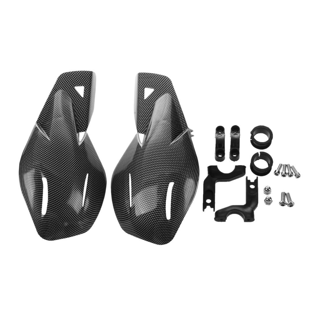 TOOGOO 1 Paire 22mm Garde-Mains Menottes Guidon Universel Moto en Fibre De Carbone