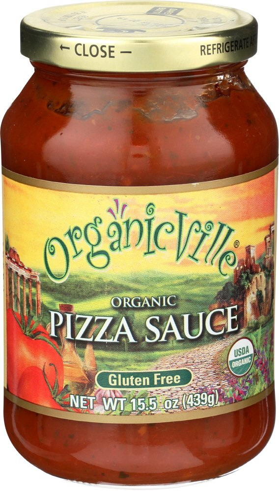 Organicville Sauce Pizza, 16 oz (frozen)