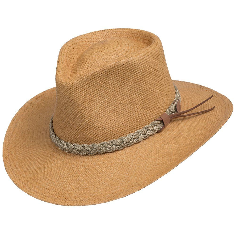 Authentic Aficionado Straw Panama Hat Putty 7 5/8