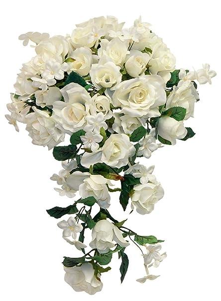 Amazon soft roses bridal cascade bouquet many colors silk soft roses bridal cascade bouquet many colors silk wedding flowers decor mightylinksfo