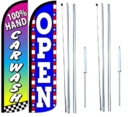 Carwash Welcome King Windless Flag Pack of 8 Hardware not Included