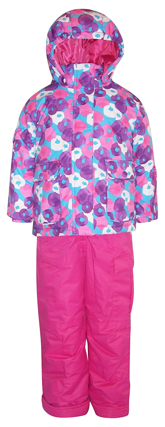 Pulse Little Girls' and Toddler 2 Piece Snowsuit Set Penelope Purple/Pink)