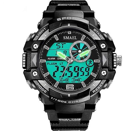 Daesar Reloj Hombre Luminoso Reloj Impermeable Relojes Running Reloj Hombre Reloj Hombre Moda Negro Gris: Amazon.es: Relojes