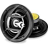 auna CS-658  2-Wege-Koaxial-Boxen  Auto Lautsprecher  Car HiFi Boxen  Einbau-Lautsprecher  300 Watt max. Leistung  94,3 dB Schalldruck  2 x 16,5 cm-Lautsprecher  Frequenzgang: 60 Hz bis 22 kHz  Metall-Korb  schwarz-silber