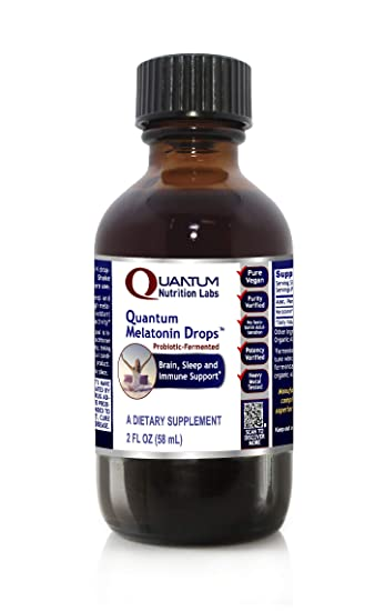 Quantum Melatonin Drops, 236 Servings - Probiotic-Fermented Melatonin for Quantum Brain, Sleep