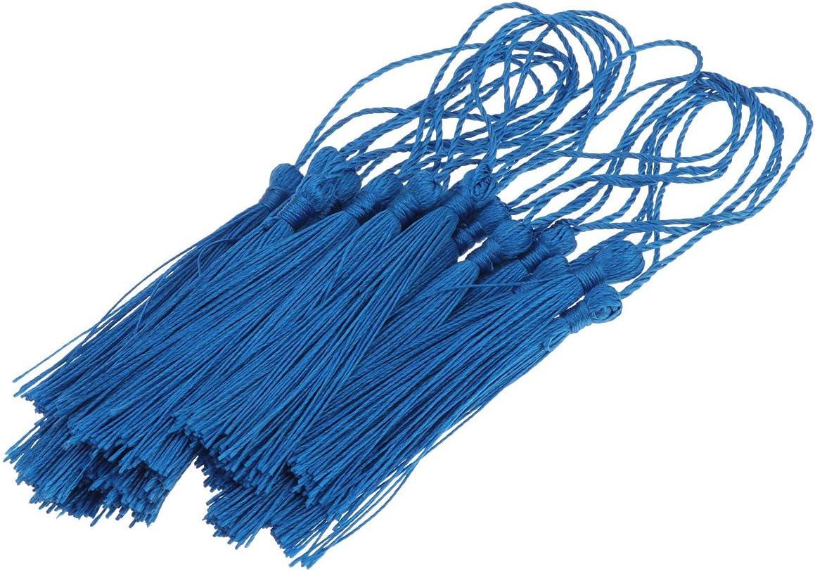 SUPVOX Nappe Fatte a Mano per Orecchini di Gioielli Fai-da-Te Segnalibro Accessorio Home Decor Etichetta Regalo Portachiavi Azzurro