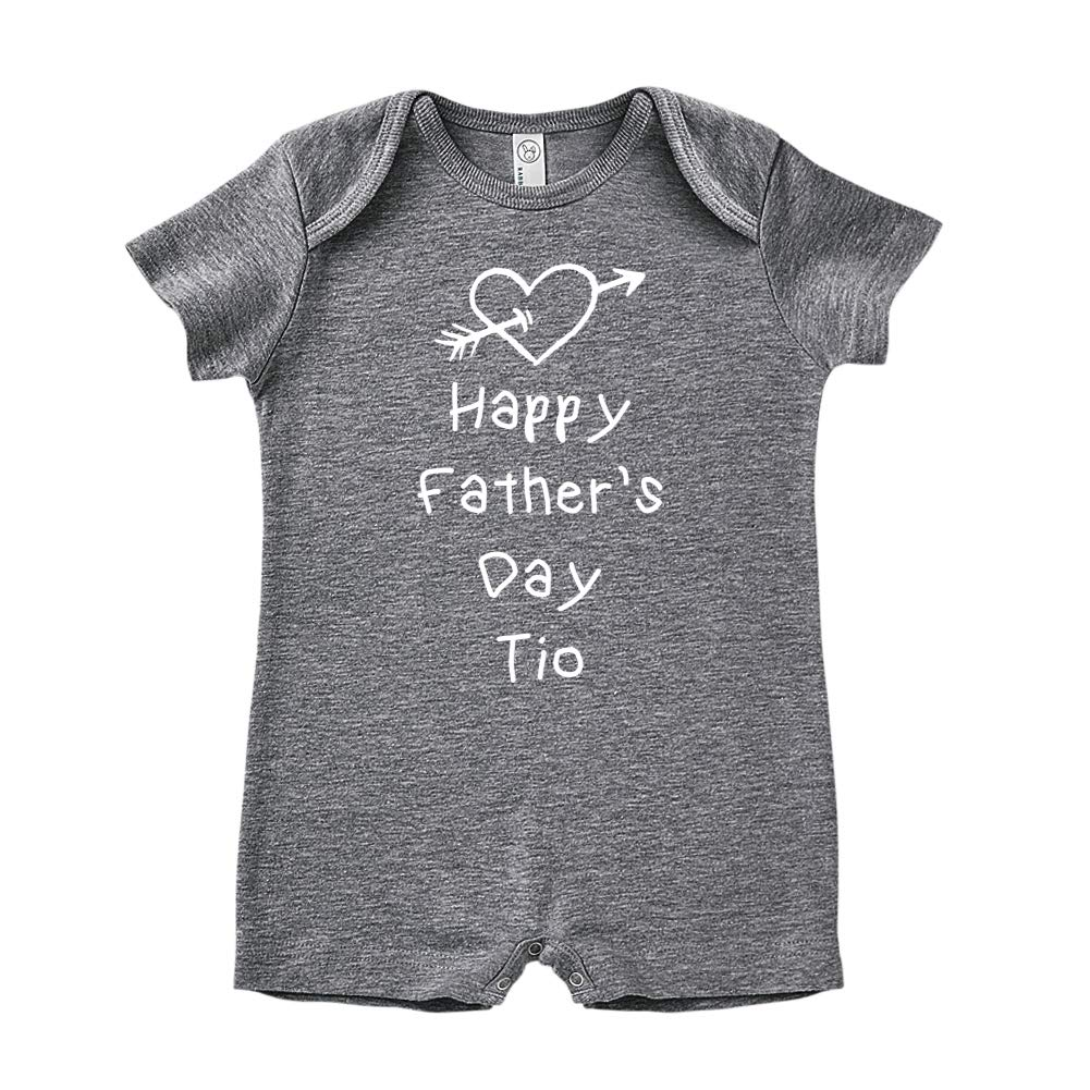 Baby Romper Heart and Arrow Happy Fathers Day TIO