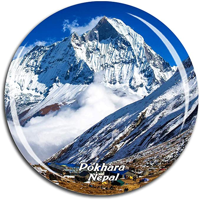Amazon Com Machhapuchhre Pokhara Nepal Asia Fridge Magnet 3d Crystal Glass Tourist City Travel Souvenir Collection Gift Strong Refrigerator Sticker Kitchen Dining