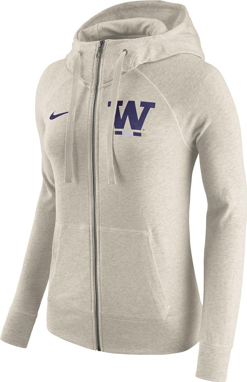 Nike Washington Huskies - Sudadera con Capucha para Mujer, diseño Vintage con Cremallera Completa: Amazon.es: Deportes y aire libre