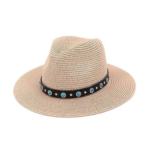Sombreros Gorro de Paja Ancho para Verano Playa de Playa Sombrero ...