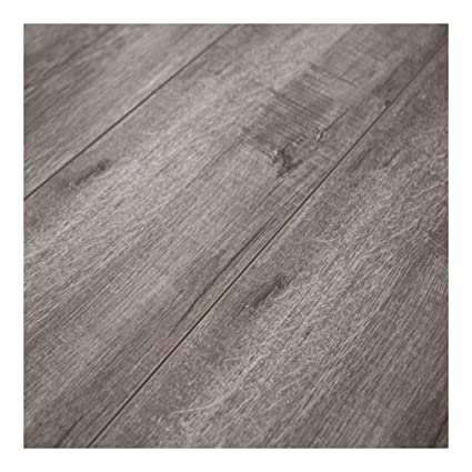 12mm Laminate Flooring w/padding attached- Heather Grey-SAMPLE ...