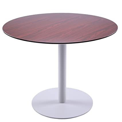 Amazoncom Sunon Round Dining Table With White Metal Base - Small round conference table