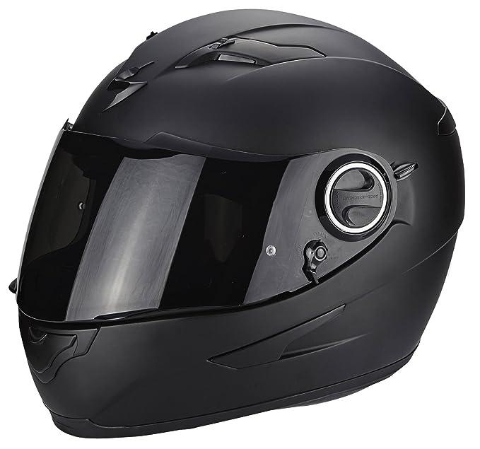 SCORPION Integralhelm EXO-490 SOLID schwarz-matt Sonnenblende Motorrad Helm Gr/ö/ße L 59//60