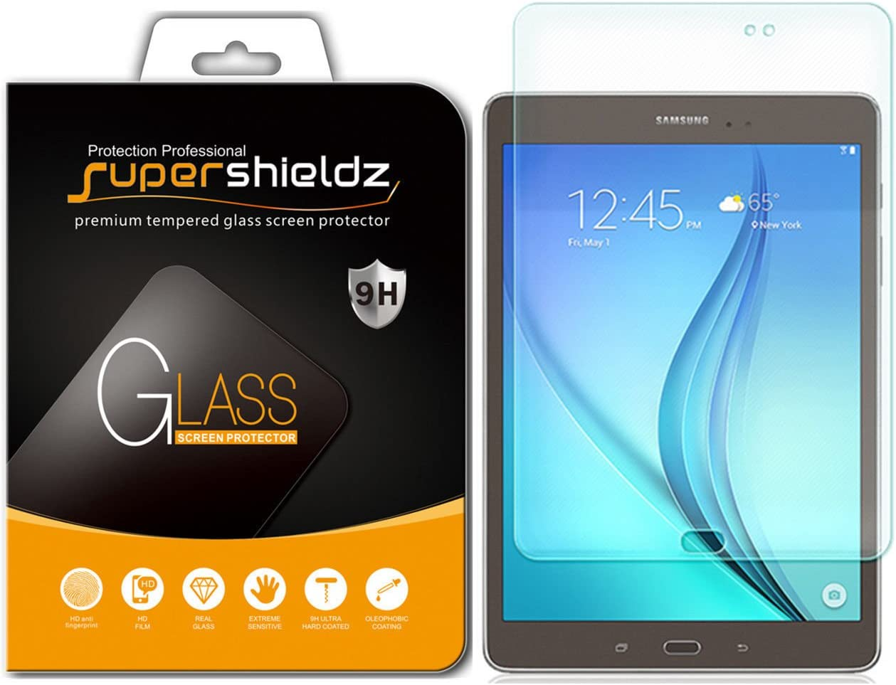 (2 Pack) Supershieldz Designed for Samsung Galaxy Tab A 8.0 (2015) (SM-T350 Model Only) Tempered Glass Screen Protector, Anti Scratch, Bubble Free