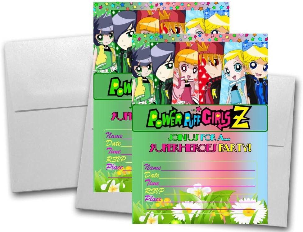 Amazon.com: 12 Powerpuff Girls Z Cumpleaños Tarjetas de ...